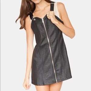UNIF Harley Leather Overall Dress